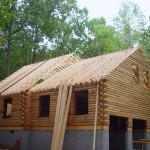 log home exterior unfinished