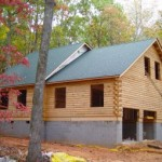 Preassembled log home