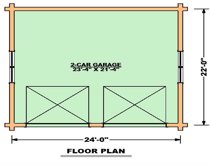 2 Car Garage Floor Plan