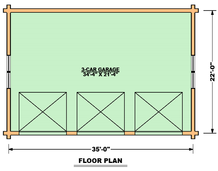 3 Car Garage Floor Plan